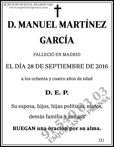 Manuel Martínez García